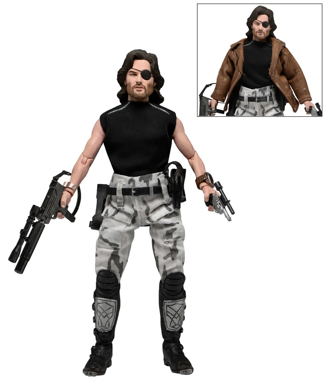 Shipping: Escape from New York Snake Plissken 8″ Clothed Action Figure