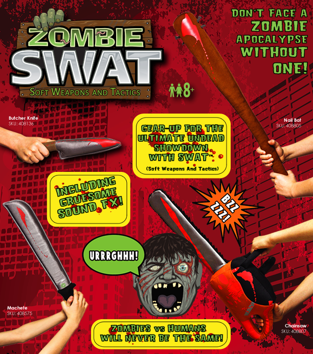 Factory Entertainment Unveils A New Zombie SWAT Soft Weapons