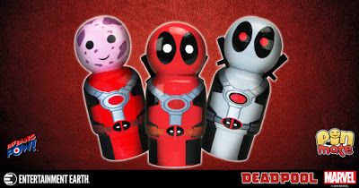 Chimichangas, Tacos, Pancakes, And New Marvel Deadpool Pin Mate Figures Now In Stock!