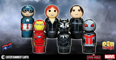 Winter Soldier And Black Panther Pin Mate Figures – Now In Stock!