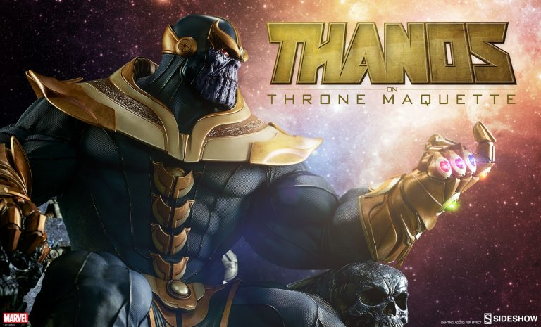 Thanos on Throne Maquette by Sideshow Collectibles