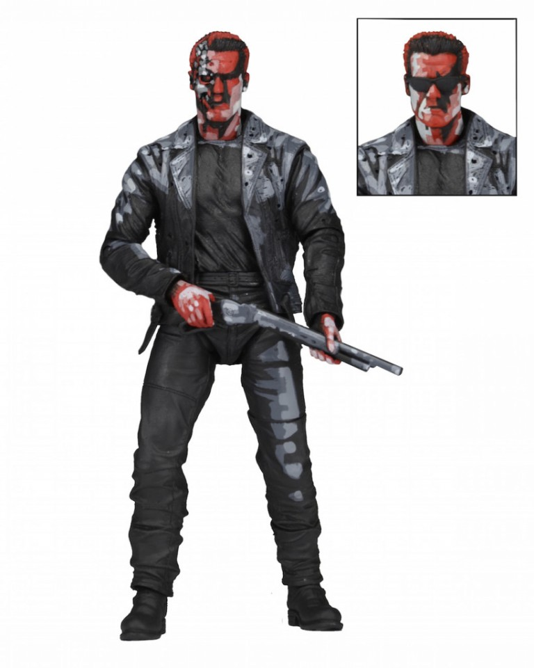NECA Terminator 2 – 7″ Action Figure – T-800 (Classic Video Game Appearance)
