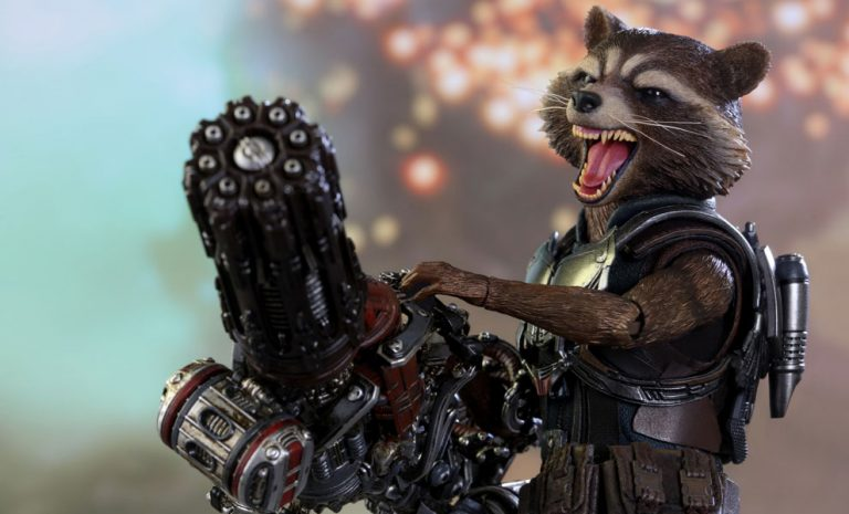 Marvel Rocket Deluxe Version Sixth Scale Figure by Hot Toys