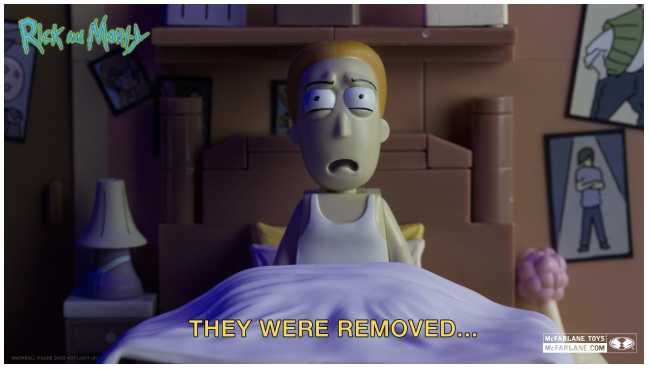 WATCH THE RICK AND MORTY SNOWBALL SCENE… IN TOY FORM!
