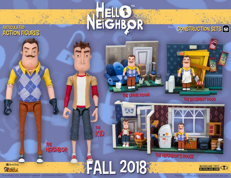 McFarlane Toys Welcomes tinyBuild to the Neighborhood with New Hello Neighbor Constructions Sets and Action Figures
